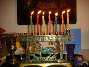 Sixth light menorah