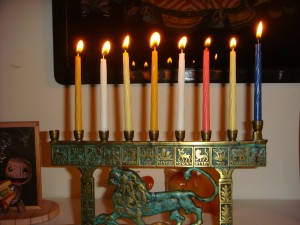 Seventh light menorah