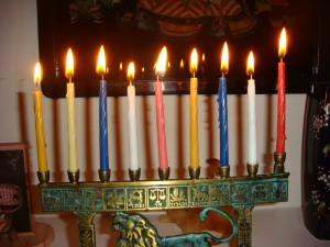 Eighth light menorah
